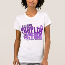I Wear Purple For My Boyfriend 6.4 Cystic Fibrosis T-Shirt