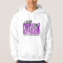 I Wear Purple For My Boyfriend 6 Crohn's Disease Hoodie