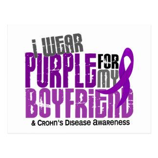 I Wear Purple For My Boyfriend 6 Crohn's Disease Postcards
