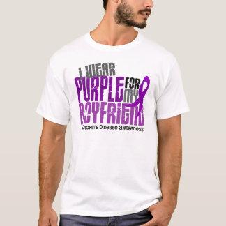 I Wear Purple For My Boyfriend 6 Crohn's Disease T-Shirt