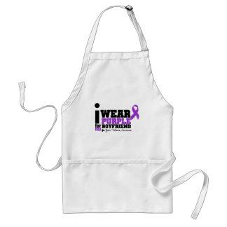I Wear Purple For My Boyfriend Cystic Fibrosis Adult Apron