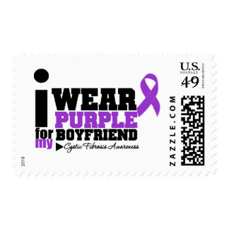I Wear Purple For My Boyfriend Cystic Fibrosis Postage Stamp