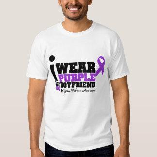 I Wear Purple For My Boyfriend Cystic Fibrosis T Shirts