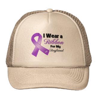 I Wear Purple For My Boyfriend png Mesh Hats