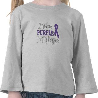 I Wear Purple For My Boyfriend (Purple Ribbon) T-shirts