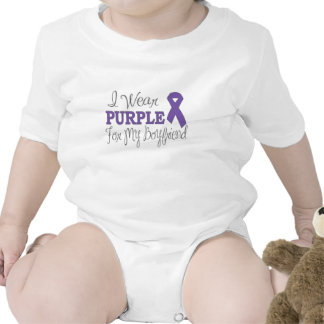 I Wear Purple For My Boyfriend (Purple Ribbon) Baby Creeper