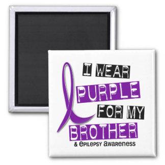 I Wear Purple For My Brother 37 Epilepsy Fridge Magnet