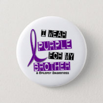 I Wear Purple For My Brother 37 Epilepsy Pinback Button