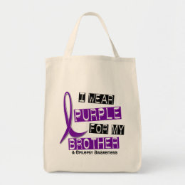 I Wear Purple For My Brother 37 Epilepsy Tote Bag