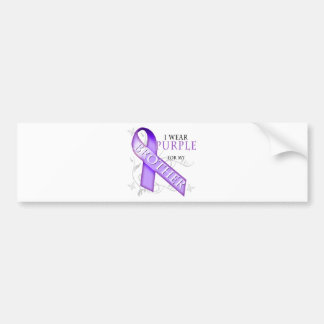 I Wear Purple for my Brother Car Bumper Sticker