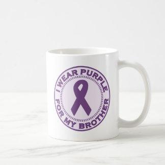 I Wear Purple For My Brother Coffee Mug