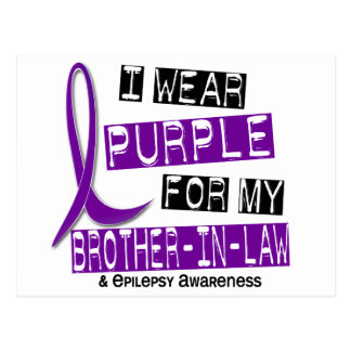 I Wear Purple For My Brother-In-Law 37 Epilepsy Postcard