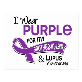 I Wear Purple For My Brother-In-Law 42 Lupus Postcard