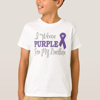 I Wear Purple For My Brother (Purple Ribbon) T-Shirt