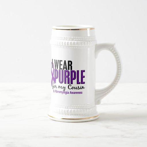 I Wear Purple For My Cousin 10 Fibromyalgia Mug