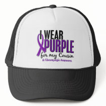 I Wear Purple For My Cousin 10 Fibromyalgia Trucker Hat