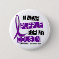 I Wear Purple For My Cousin 37 Epilepsy Button