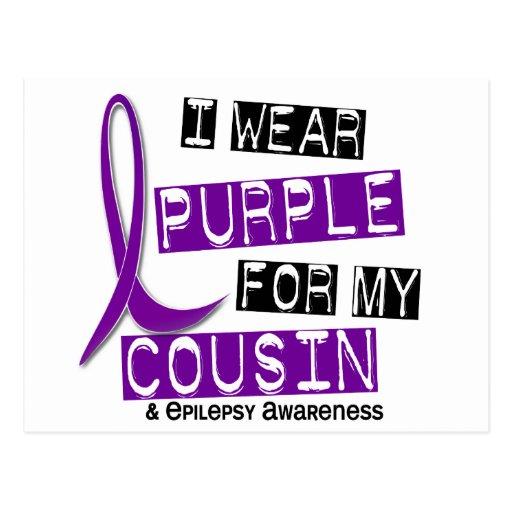 I Wear Purple For My Cousin 37 Epilepsy Postcard
