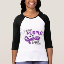 I Wear Purple For My Cousin 42 Lupus T Shirt