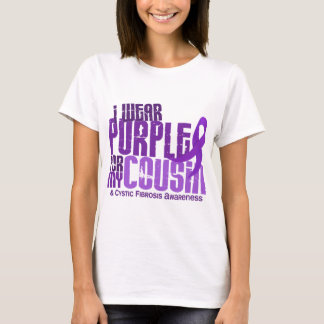 I Wear Purple For My Cousin 6.4 Cystic Fibrosis T-Shirt