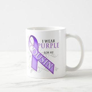 I Wear Purple for my Cousin Coffee Mug