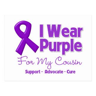 I Wear Purple For My Cousin Postcard