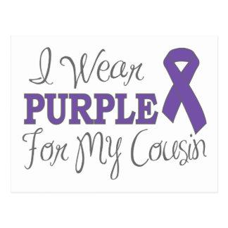 I Wear Purple For My Cousin (Purple Ribbon) Postcard