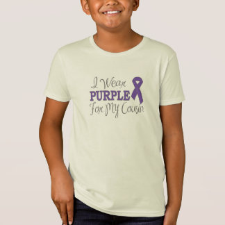 I Wear Purple For My Cousin (Purple Ribbon) T-Shirt