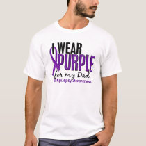 I Wear Purple For My Dad 10 Epilepsy T-Shirt