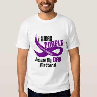 I Wear Purple For My Dad 33 PANCREATIC CANCER T-shirt