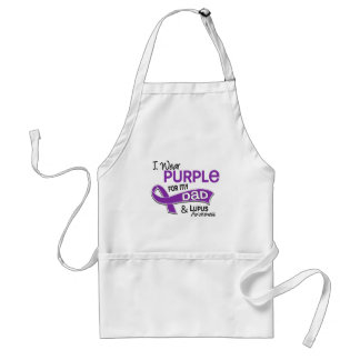 I Wear Purple For My Dad 42 Lupus Adult Apron