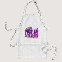 I Wear Purple For My Dad 6 Crohn's Disease Adult Apron