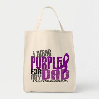 I Wear Purple For My Dad 6 Crohn's Disease Tote Bag