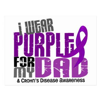 I Wear Purple For My Dad 6 Crohn's Disease Post Cards