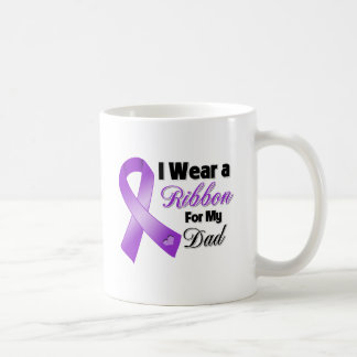 I Wear Purple For My Dad Classic White Coffee Mug