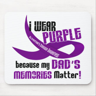 I Wear Purple For My Dad's Memories 33DAD Mouse Pads
