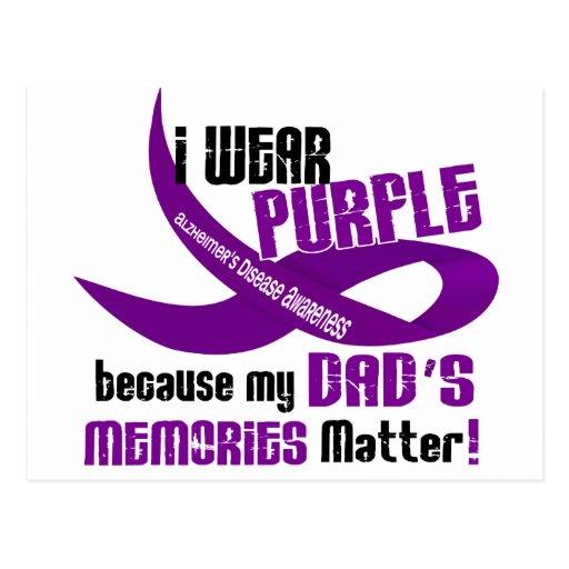 I Wear Purple For My Dad's Memories 33DAD Postcard