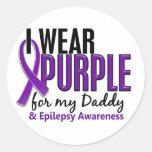 I Wear Purple For My Daddy 10 Epilepsy Sticker