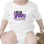 I Wear Purple For My Daddy 10 Epilepsy T Shirt