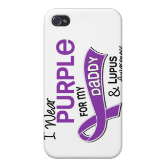 I Wear Purple For My Daddy 42 Lupus iPhone 4/4S Cases