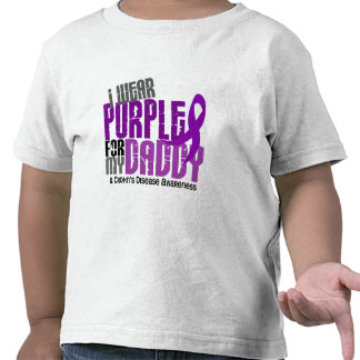 I Wear Purple For My Daddy 6 Crohn's Disease Tshirts