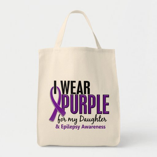 I Wear Purple For My Daughter 10 Epilepsy Canvas Bag
