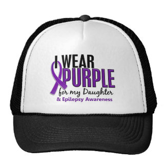 I Wear Purple For My Daughter 10 Epilepsy Trucker Hat