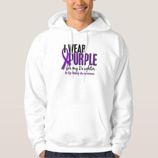 I Wear Purple For My Daughter 10 Epilepsy Hoodie