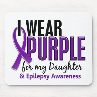 I Wear Purple For My Daughter 10 Epilepsy Mouse Pad