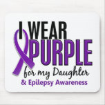 I Wear Purple For My Daughter 10 Epilepsy Mousepad