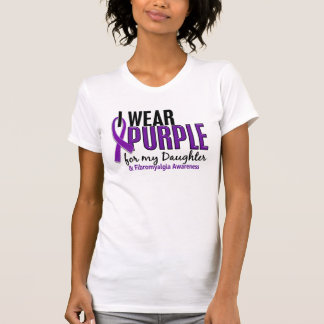 I Wear Purple For My Daughter 10 Fibromyalgia T-Shirt