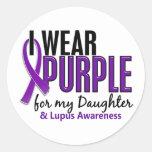 I Wear Purple For My Daughter 10 Lupus Round Sticker