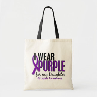 I Wear Purple For My Daughter 10 Lupus Tote Bag