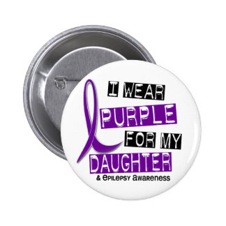 I Wear Purple For My Daughter 37 Epilepsy Pinback Button